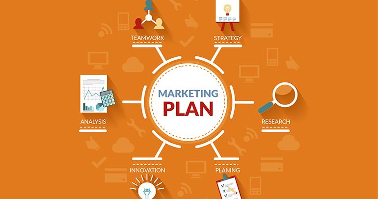 kế hoạch marketing online được kết hợp từ nhiều thành phần